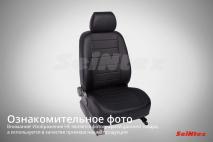 Чехлы для Chevrolet Spark 2011-н.в. черный+серый