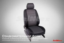 Чехлы для Mitsubishi Outlander III 2012-н.в. черный+серый