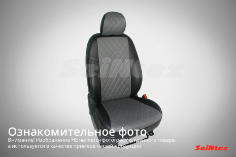 Чехлы из экокожи Ромб для Hyundai Solaris SD (зад. сид. 60/40) 2010-2017