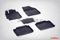 Резиновые коврики с высоким бортом для Toyota Camry VIII 2018-н.в.
